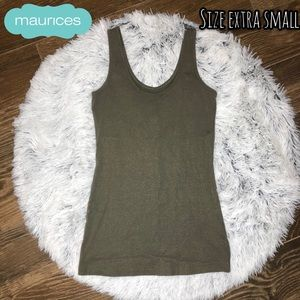 Shimmery green tank top💚✨